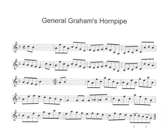 General Graham's Hornpipe in F