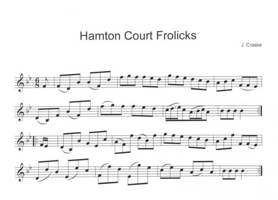 Hamton Court Frolicks in Bb