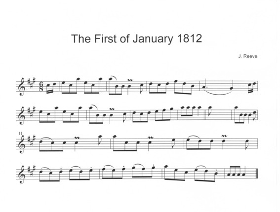 The First of January in A
